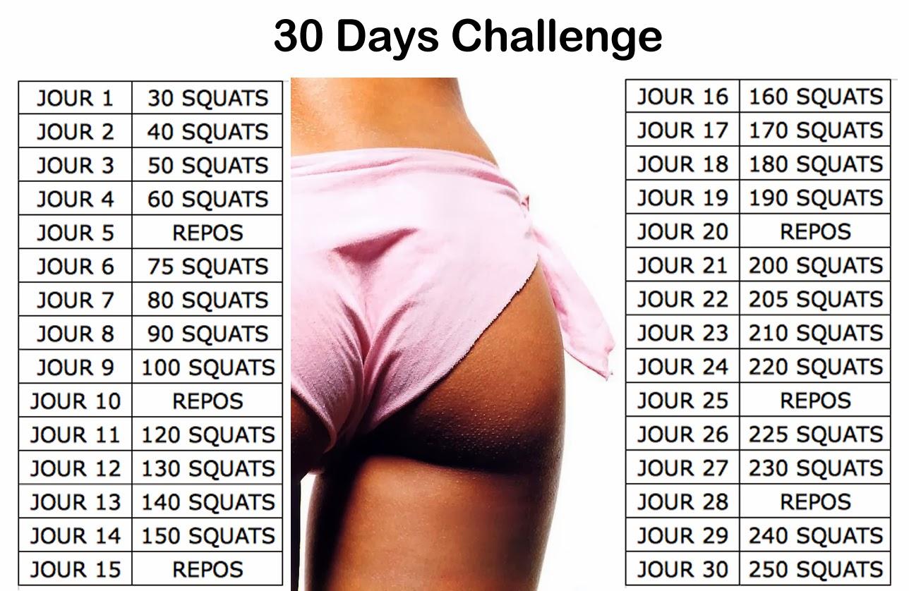 30 days squat challenge : tout savoir sur cette nouvelle méthode qui ...